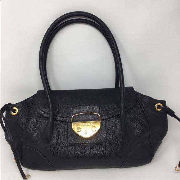 Prada Bags   Pebbled Leather Flap Bag   Poshmark 38b85f9f60